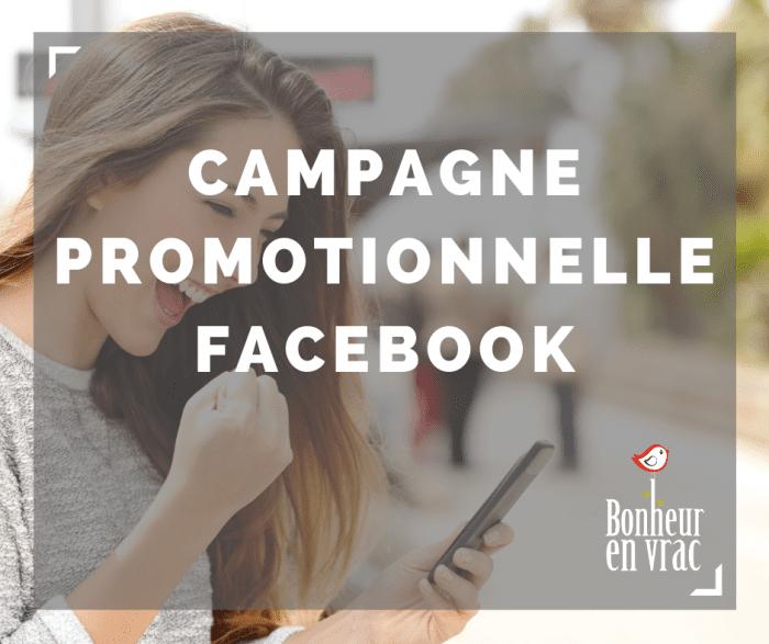 Campagne promotionnelle facebook